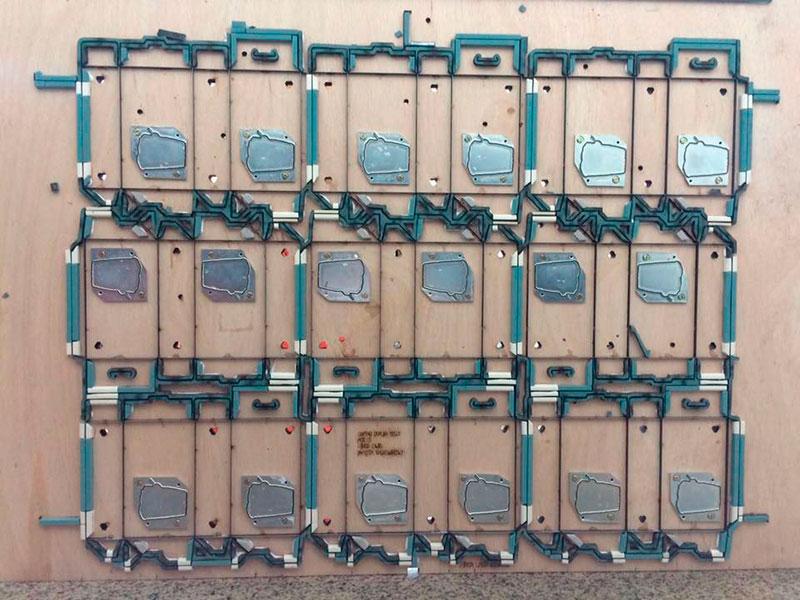 Facas industriais para caixa